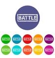 Battle flat icon vector image vector image