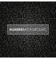 black number background vector image vector image
