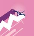 businessmen rodeo chart - stock market concept vector image vector image