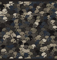 camouflage gray and brown scull silhouettes vector image vector image