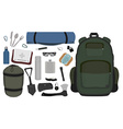 Camping set No outlines vector image vector image