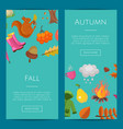 cartoon autumn elements and leaves web vector image vector image