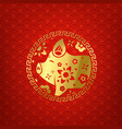 chinese style banner the year of the pig vector image vector image