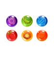 colorful glossy balls set shiny spheres vector image vector image