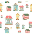 Cute cartoon houses vector image