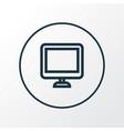 display icon line symbol premium quality isolated vector image vector image