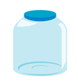 Empty glass jar vector image