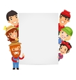 Farmers Presenting Empty Vertical Banner vector image vector image