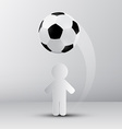 Football - Soccer Ball with Paper Cut Player vector image vector image