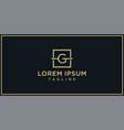 g elegance logo vector image vector image