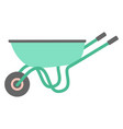 garden trolley isolated on white flat design