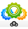 gears composition colorful and black version vector image vector image