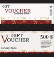 Gift voucher design vector image vector image
