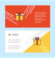 giftbox abstract corporate business banner vector image vector image