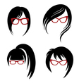 girl glasses 1 2 vector image vector image