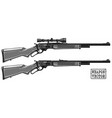 graphic detailed shotgun rifle with optical sight vector image vector image