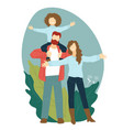 happy mother and father carrying child family vector image vector image
