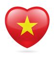 Heart icon of Vietnam vector image