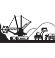 Heavy mining machinery vector image