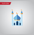 isolated islam flat icon structure element vector image vector image