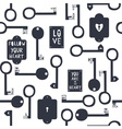 key to my heart seamless pattern vector image