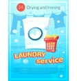Laundry service poster vector image vector image