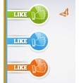 Like icons vector image