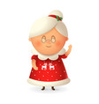 mrs claus - wife santa claus vector image vector image