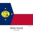 National flag of Wake Island with correct vector image vector image