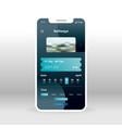 online railways ticket system ui ux gui screen vector image vector image