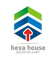 Penta house arrow design icon symbol vector image
