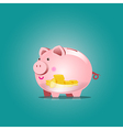 Piggy bank icon with blank vector image