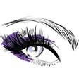 purple scribbles female closed female eye vector image