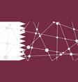 qatar flag concept vector image
