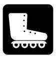 Roller skates icon button vector image