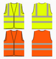 safety vest vector image vector image