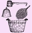 Sauna accessories vector image