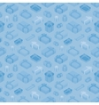 Seamless pattern with the isometric gift boxes vector image vector image