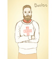Sketch doctor in Mafia board game vector image vector image