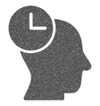 Time Thinking Grainy Texture Icon vector image vector image