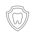 tooth image inside a shield tooth protection idea vector image