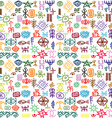 Tribal ethnic symbols colorful background vector image vector image