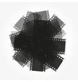 trimming of the film background vector image vector image