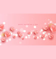 valentines day sale horizontal banner realistic vector image vector image