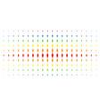 woman person spectral halftone array vector image vector image