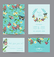 wedding invitation template tropical design vector image
