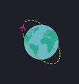 Air travel computer symbol vector image
