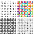 100 festive day icons set variant vector image vector image