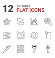 12 interface icons vector image vector image