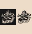 animal biker vintage monochrome badge vector image vector image
